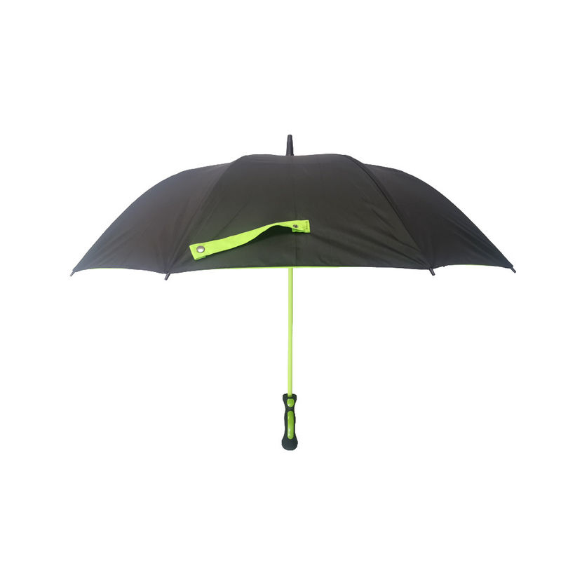 Large Colored Fiberglass Double Canopy Umbrella Inside With Black Net And Rubber Handle